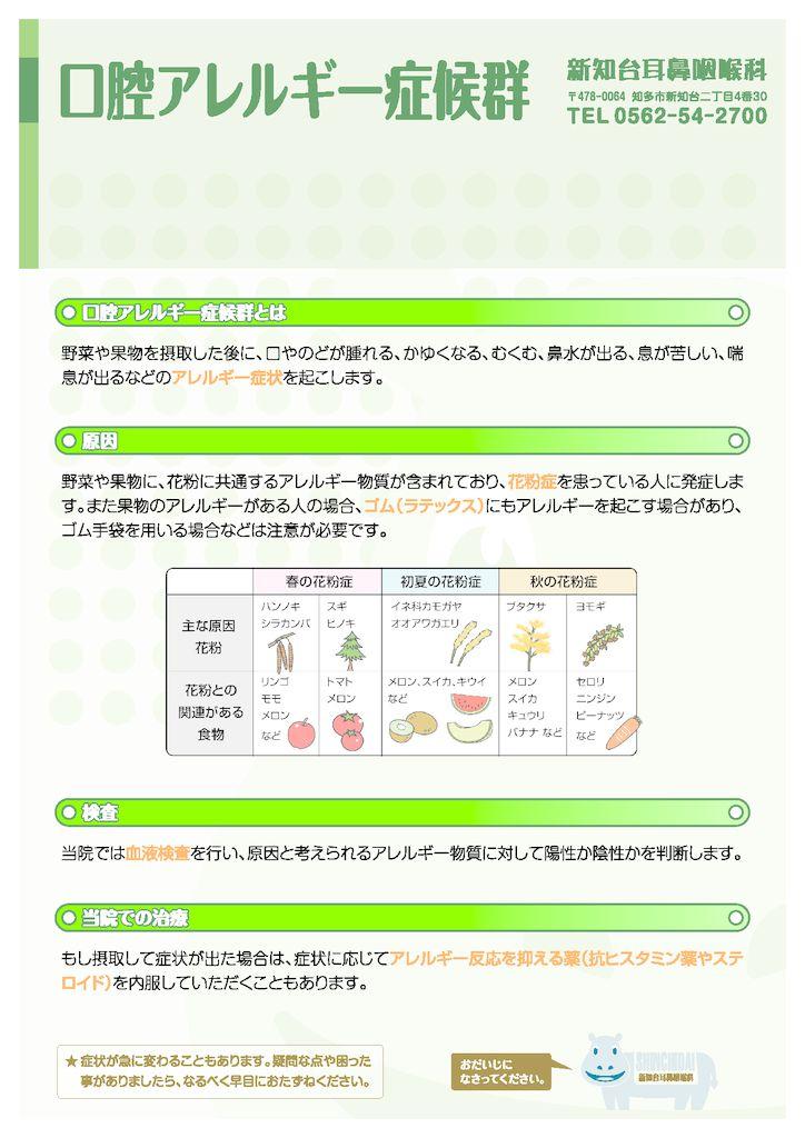 口腔アレルギー症候群